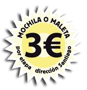 3-euros-mochila-o-maleta-por-etapa-dirección-Santiago