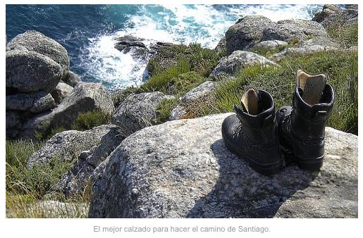 Camino de Santiago; calzado adecuado