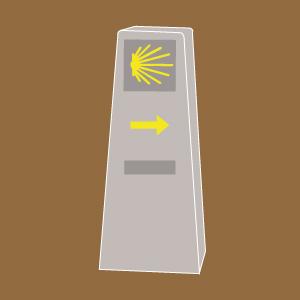 MOJON-camino-santiago-señalización
