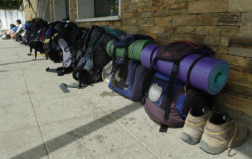 cargar-mochila-Camino-Santiago